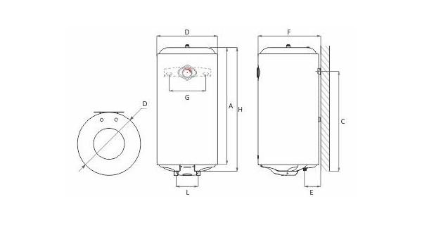 Chauffe-eau suspendu 50 ou 80L MB EL NH/DH
