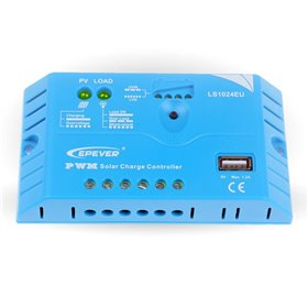 Epsolar PWM LS1024EU 12V / 24V - 10A with USB output