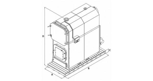 Solid fuel boiler (biomass) BURNiT WBS AC Magna