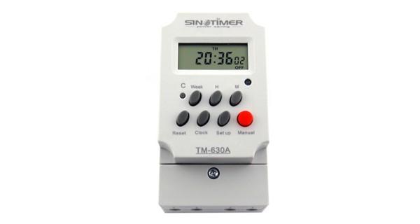 Commutateur horaire numérique 30A 12/24V
