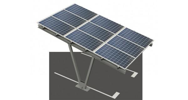 Photovoltaic carport single-stand