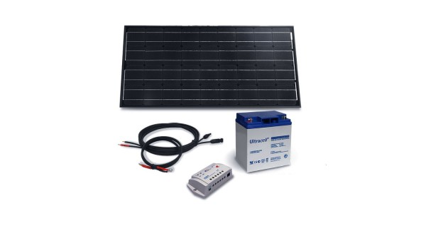 Kit solaire 100Wc - 28Ah - 12V
