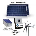 Kit autonome hybride solaire éolien 5000W