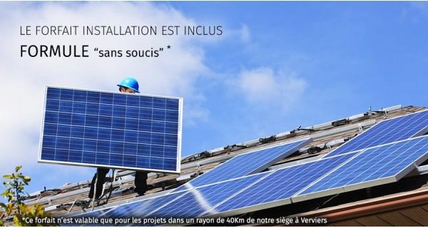 Installations solaire de 20 panneaux - 5kW