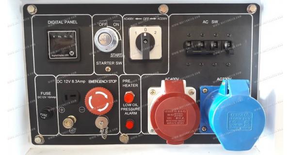 Groupe électrogène bi-tension insonorisé 6kW / 7kVA DG-7800SE-T