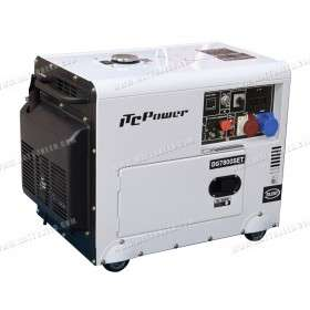 Soundproof generator 6kW / 7kVA dual voltage with ATS DG-7800SE-T