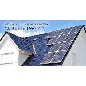 Installations solaire de 12 panneaux - 2.5kW