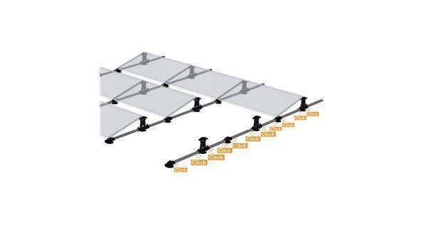 Structure pour pose de panneaux solaires
