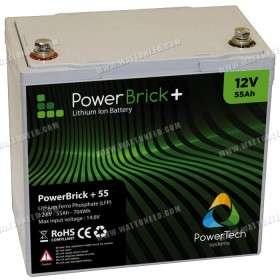 PowerBrick lithium battery + 12V 55Ah