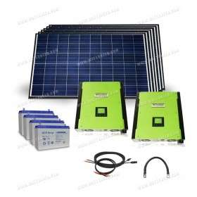 Hybrid grid connected with battery kit - 10kW
