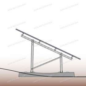 Free-land mounting system for photovoltaic panel