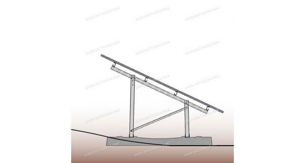 Système de pose au sol pour panneaux photovoltaïques