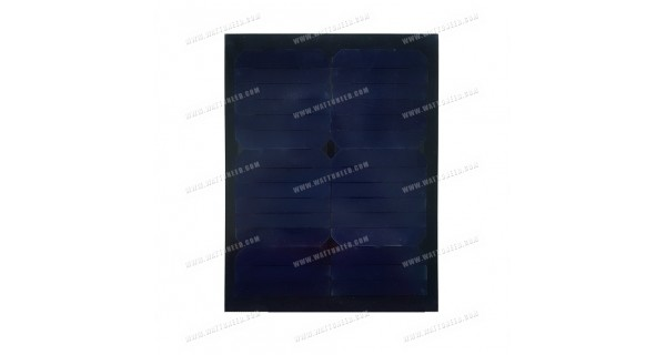Solar panel 15w mono full black without frame