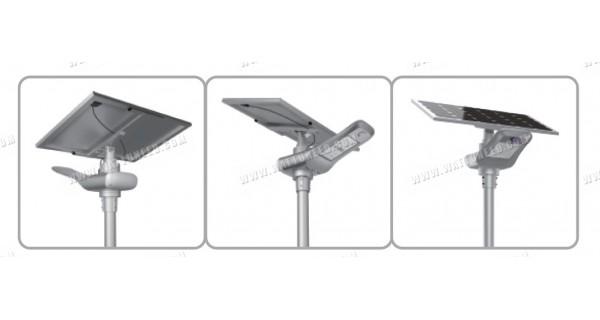 Lampadaire solaire - LED autonome 100w - panneau de 30W