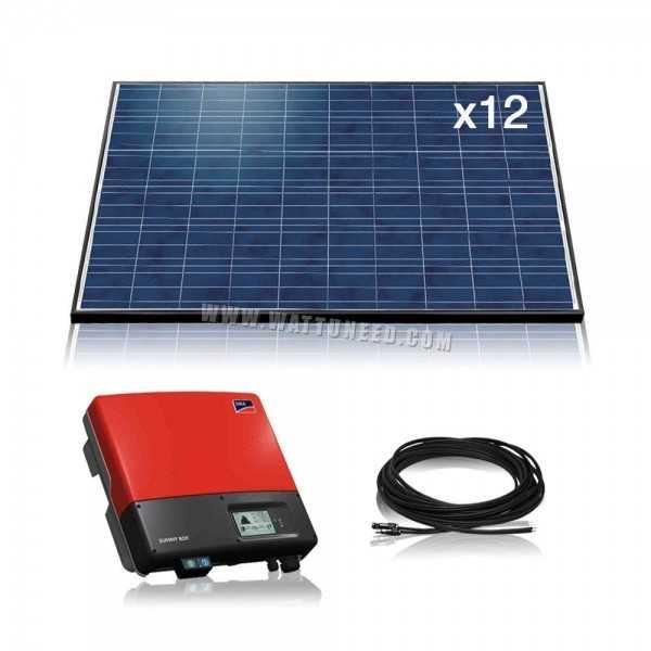 kit premium 3000w kit solaire photovolta que de fabrication europ enne. Black Bedroom Furniture Sets. Home Design Ideas