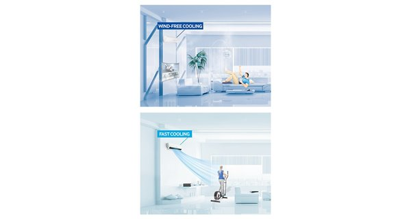 Pompe à chaleur Samsung Wind Free 5 kW Multi-Split