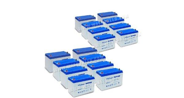 Parc de 20kWh batterie GEL configurable