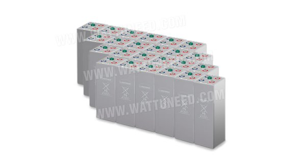 Parc de 110 kWh batteries OPzV 48V