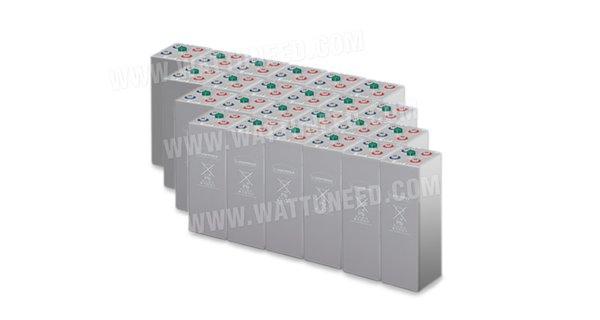 Parc de 168 kWh batteries OPzV 48V
