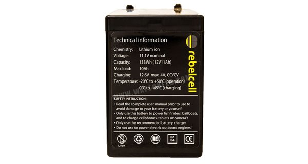 RebelCell 12V 18Ah Lithium battery