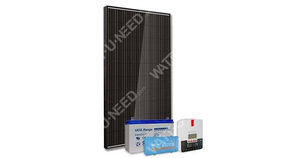Kit solaire 300Wc mono - 100Ah - 250VA