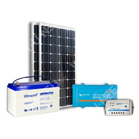 Kit solaire 200Wc mono - 100Ah - 250VA