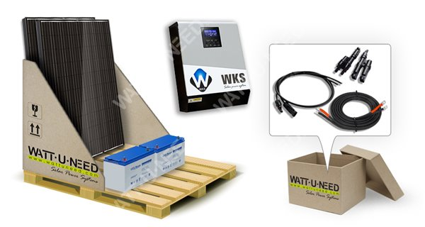 Kit self-consumption 2 panels with storage 1kVA