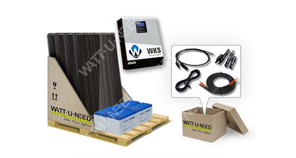 Kit self-consumption 4 panels with storage 3kVA
