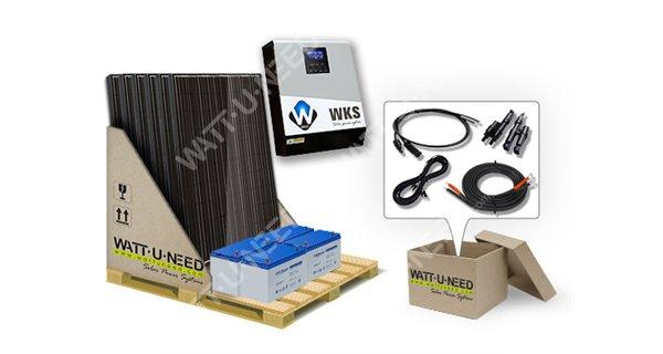 Kit autoconsommation 6 panneaux 3kVA avec stockage