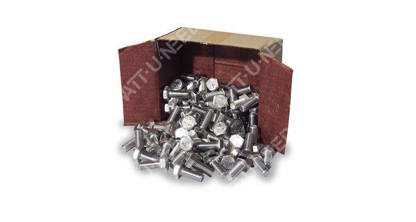 Boulon tête hexagonal M8x25 100 pièces