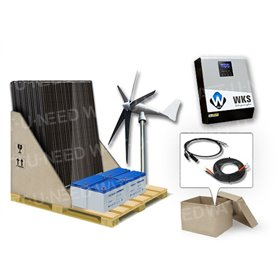 Self-consumption Kit 6 solar panels and wind turbine
