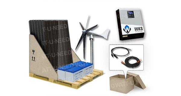 Kit autoconsommation 6 panneaux avec stockage GEL et éolienne