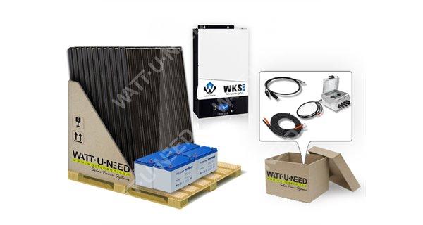 Kit autoconsommation 15 panneaux 5kVA avec stockage