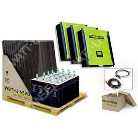 Self-consumption kit 72 panels 30kVA storage and reinjection