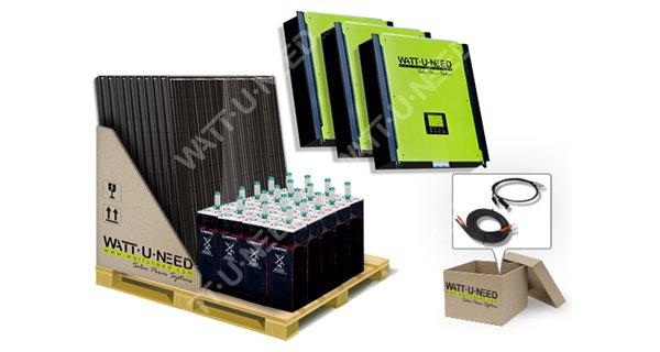Kit autoconsommation 72 panneaux 30kVA stockage et réinjection