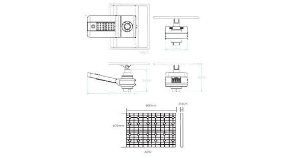 Solar lamp post - LED autonomous WU 40W 18V - Panel 100W