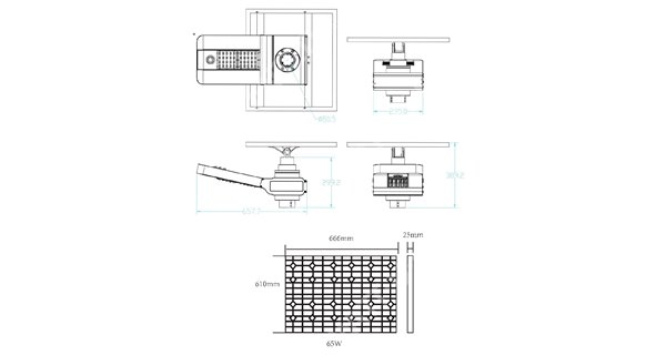 Solar lamp post - LED autonomous WU 50W 18V - 150W Panel