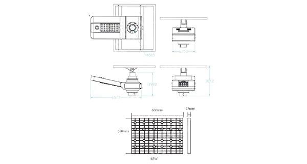 Lampadaire solaire - LED autonome WU 40W 18V - Panneau 100W