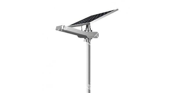 Lampadaire solaire - LED autonome WU 20W 18V - Panneau 65W