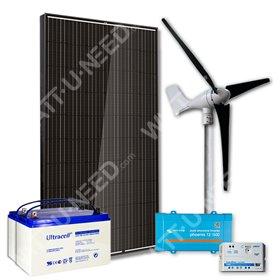 Kit 1 Panel 500VA with wind turbine and storage