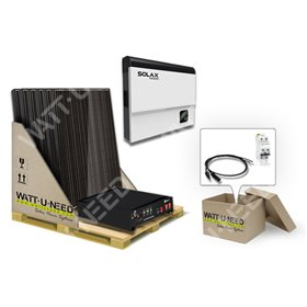 Self-consumption Kit 6 panels 3kVA LITHIUM and Solax