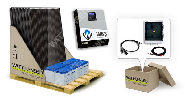 8 panels self-consumption kit 3kVA with storage