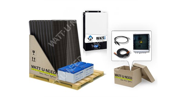 Self-consumption Kit 9 solar panels 5kVA with storage