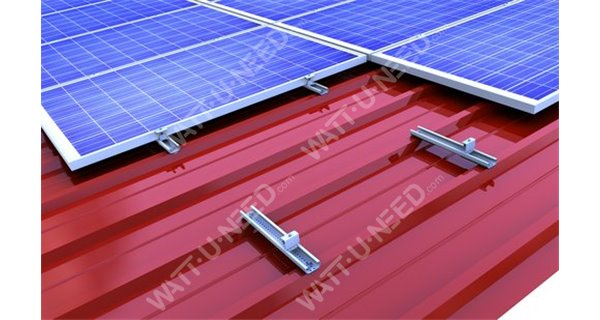 Mounting system for tray roofing