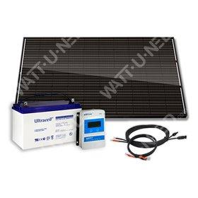 300Wc Solar Kit - 100Ah - 12V - Full Black