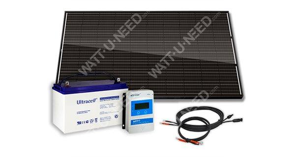 Kit solaire 300Wc - 100Ah - 12V - Full Black