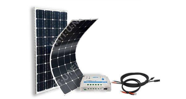 Solar campervan kit - boat SIZE M - 12V - configurable