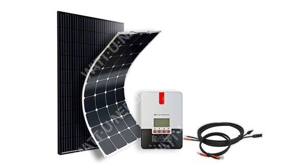 Kit solaire camping-car & bateau TAILLE L - 12V - configurable