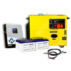 Standalone kit with power generator configurable