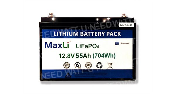 12.8V 55Ah lithium battery MaxLi